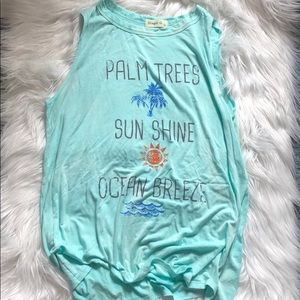 Palm Trees Sunshine and Ocean Breeze Tee